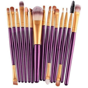15 Pcs Pro Cosmetic Makeup Brush Pincel Maquiagem Purple Set-MakeUp Brushes-Sour Grapes Online-ZJ-