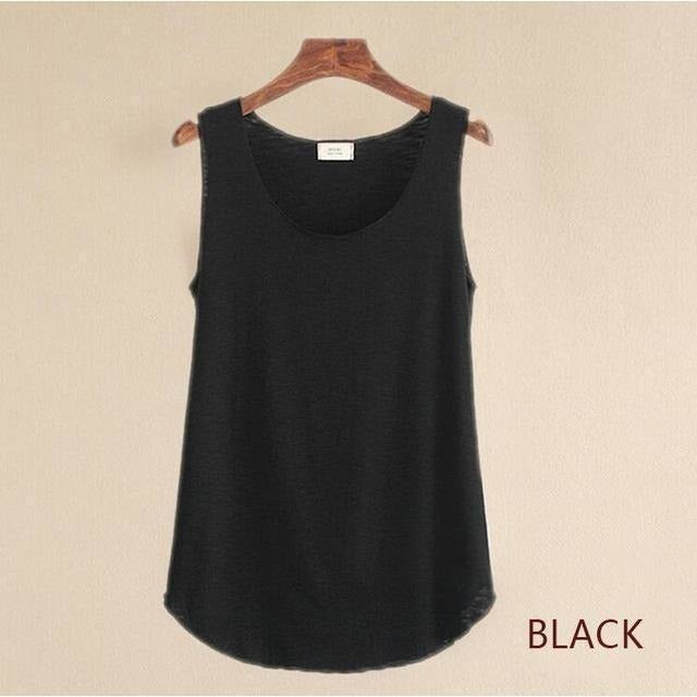 2016 summer Fitness Tank Top New T Shirt Plus Size Loose Model Women T-shirt Cotton O-neck Slim Tops Fashion Woman Clothes-Top-Sour Grapes Online-black-One Size-