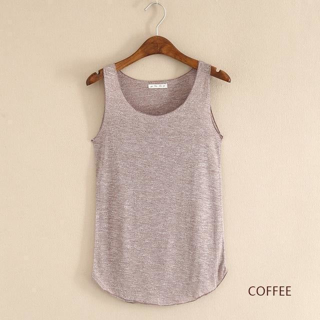 2016 summer Fitness Tank Top New T Shirt Plus Size Loose Model Women T-shirt Cotton O-neck Slim Tops Fashion Woman Clothes-Top-Sour Grapes Online-coffee-One Size-