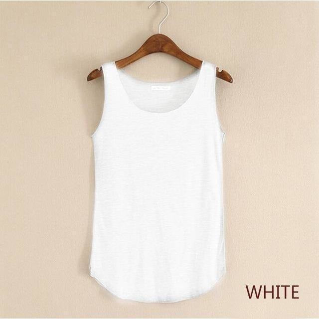 2016 summer Fitness Tank Top New T Shirt Plus Size Loose Model Women T-shirt Cotton O-neck Slim Tops Fashion Woman Clothes-Top-Sour Grapes Online-white-One Size-