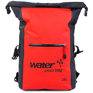 25L Outdoor Waterproof Dry Travel Kit Bag-Backpack-Sour Grapes Online-Red-