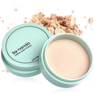 3 Color Translucent Pressed Powder with Puff Smooth Face Makeup Foundation Waterproof Loose Finish Setting Powder-Face Styling-Sour Grapes Online-1-