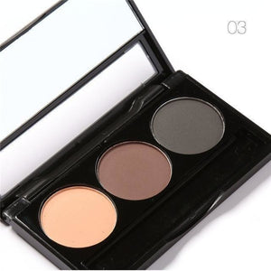3 Color Waterproof Eye Shadow Eyebrow Powder Palette Women Beauty Cosmetic Make Up Set-Eyes Styling-Sour Grapes Online-3-