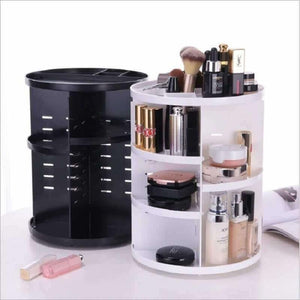 360-degree Rotating Makeup Organizer Cosmetic Storage Box-MakeUp Accessories-Sour Grapes Online-Black-