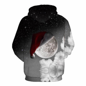 3D Print Christmas Halloween Night Sky Theme Pullover Hoodies-Pullover-Sour Grapes Online-Grey-S-