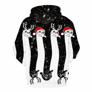 3D Print Christmas Halloween Striped Theme Pullover Hoodies-Pullover-Sour Grapes Online-White-S-