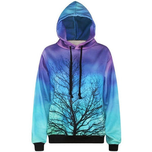 3D Print Hoodies - Loose Long Sleeve Branch Pullover-Hoodies-Sour Grapes Online-As Picture-L-