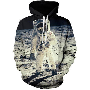 3D Print Hoodies - Space Astronaut Themed Pullover-Hoodies-Sour Grapes Online-As Picture-L-