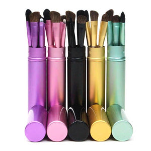 5pcs Portable Professional Mini Eye Makeup Brushes Set-MakeUp Brushes-Sour Grapes Online-Turquoise-