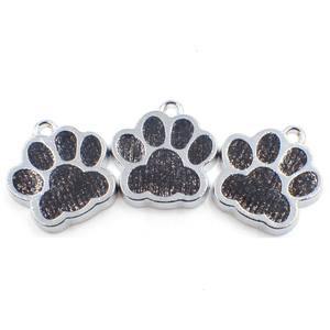 Bling Dark Colored Enamel Cat/Dog/Bear Paw Print Key rings-Accessories-Sour Grapes Online-Black-