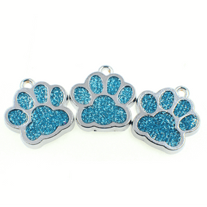 Bling Pastel Colored Enamel DIY Cat/Dog/Bear Paw Print Key rings-Accessories-Sour Grapes Online-DodgerBlue-