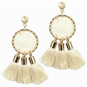 Bohemia Tassels Earrings For Women Beach Jewelry-Jewellery-Sour Grapes Online-Beige-