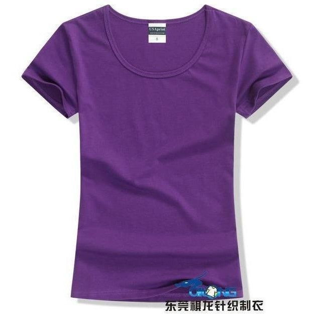 Brand New fashion women t-shirt brand tee tops Short Sleeve Cotton tops for women clothing solid O-neck t shirt ,Free shipping-T-Shirt-Sour Grapes Online-Deep Purple-S-