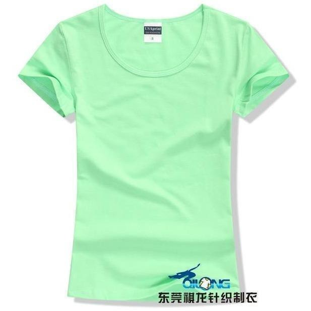 Brand New fashion women t-shirt brand tee tops Short Sleeve Cotton tops for women clothing solid O-neck t shirt ,Free shipping-T-Shirt-Sour Grapes Online-Litht Green-S-