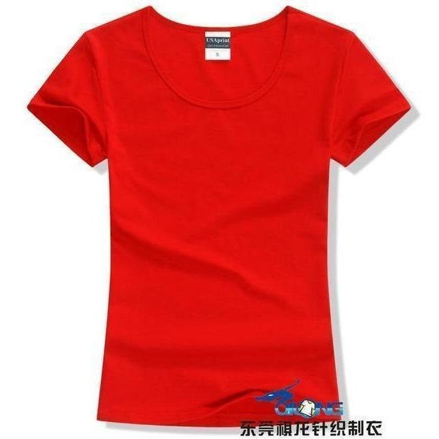 Brand New fashion women t-shirt brand tee tops Short Sleeve Cotton tops for women clothing solid O-neck t shirt ,Free shipping-T-Shirt-Sour Grapes Online-Red-S-