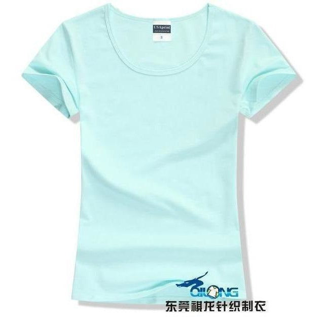 Brand New fashion women t-shirt brand tee tops Short Sleeve Cotton tops for women clothing solid O-neck t shirt ,Free shipping-T-Shirt-Sour Grapes Online-Water Blue-S-