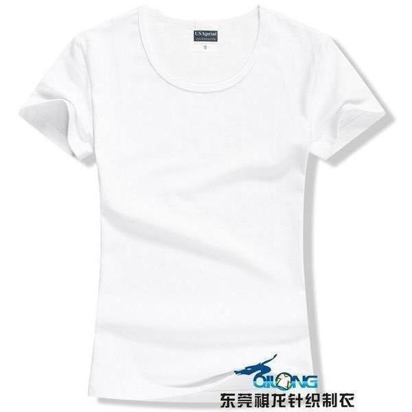 Brand New fashion women t-shirt brand tee tops Short Sleeve Cotton tops for women clothing solid O-neck t shirt ,Free shipping-T-Shirt-Sour Grapes Online-White-S-