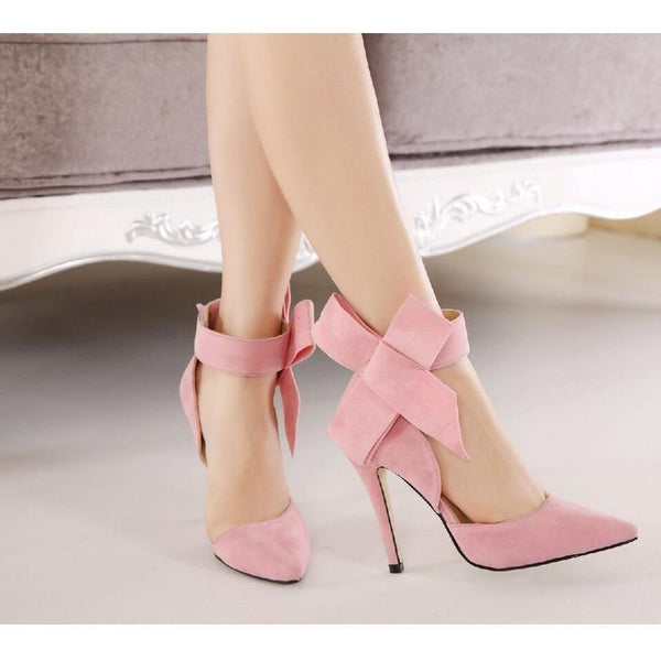 71549ae9b1a Butterfly Knot Bow Tie Pointed High Heels Shoes – Sour Grapes Online
