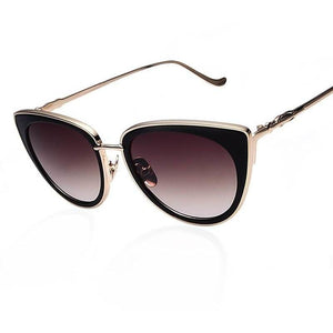 Cat Eye Designer Women Polarized Sunglasses - 6 colors-Shades-Sour Grapes Online-Dark Brown-