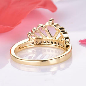 Cubic Zirconia Jewelry Crown Shaped Women Rings-Jewellery-Sour Grapes Online-6-Gold-