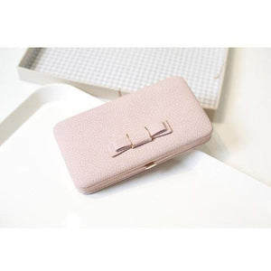 Designer Clutch Bow Purse Wallet With Cellphone Holder-Wallet-Sour Grapes Online-Pink-