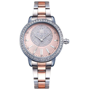 Designer Rose Gold Crystal Luxury Quartz Wrist Watch-Watch-Sour Grapes Online-Rose-