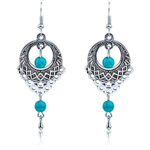 Ethnic Bohemian Dangler Drop Women Earrings-Jewellery-Sour Grapes Online-