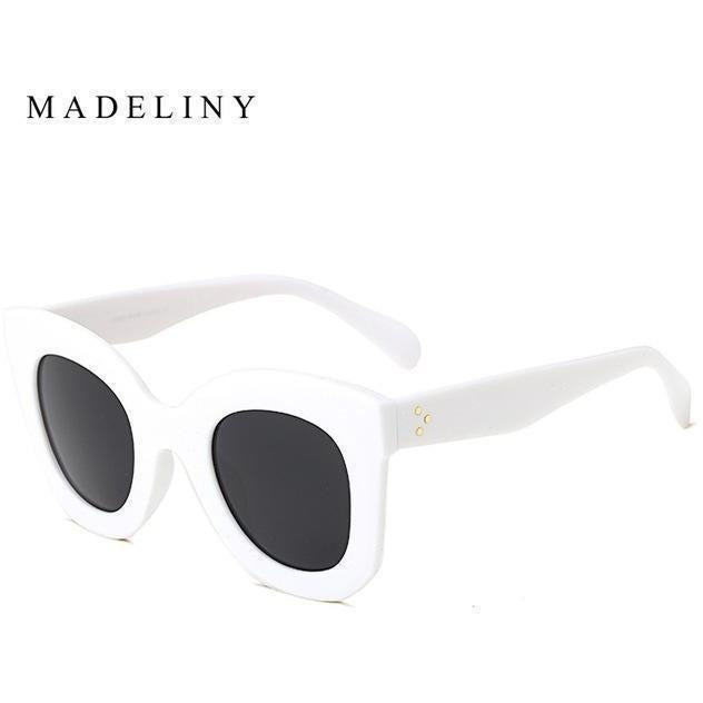 Fashion Cat Eye Sunglasses for Women-Shades-Sour Grapes Online-NO1 White-