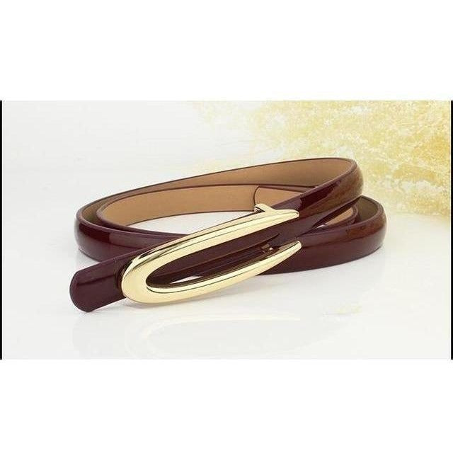 Fashion Genuine Leather Thin Belt Dress Accessories-Belt-Sour Grapes Online-Brown-100cm-