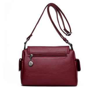 Fashion Leather Designer Crossbody Bags for Women-Sling-Sour Grapes Online-Red-