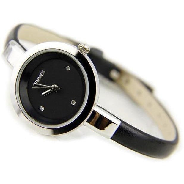 Fashion Slim Strap Quartz Watch for Women-Watch-Sour Grapes Online-Black-