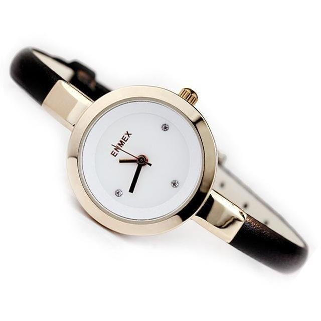 Fashion Slim Strap Quartz Watch for Women-Watch-Sour Grapes Online-Golden Black-