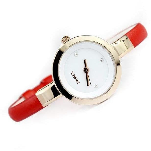 Fashion Slim Strap Quartz Watch for Women-Watch-Sour Grapes Online-Golden Red-