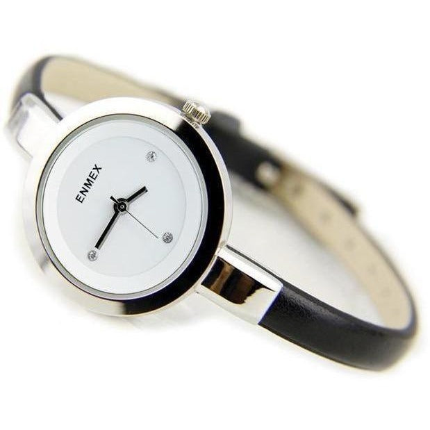 Fashion Slim Strap Quartz Watch for Women-Watch-Sour Grapes Online-Silver Black-