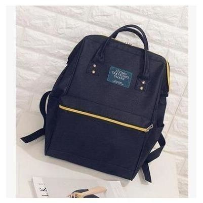 Fashion Women High Quality Denim Travel Backpack-Backpack-Sour Grapes Online-Black-26 x 40 x 17 cm-