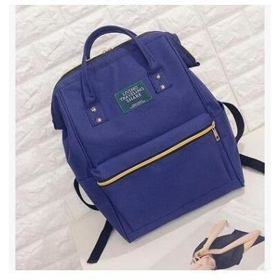 Fashion Women High Quality Denim Travel Backpack-Backpack-Sour Grapes Online-Blue-26 x 40 x 17 cm-