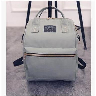 Fashion Women High Quality Denim Travel Backpack-Backpack-Sour Grapes Online-Grey-26 x 40 x 17 cm-
