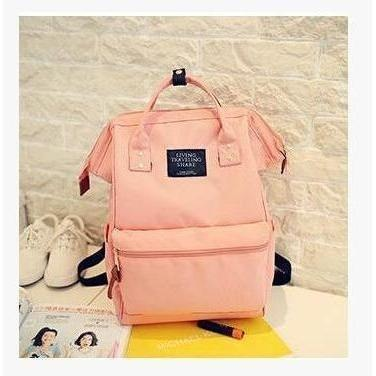 Fashion Women High Quality Denim Travel Backpack-Backpack-Sour Grapes Online-Pink-26 x 40 x 17 cm-