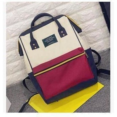 Fashion Women High Quality Denim Travel Backpack-Backpack-Sour Grapes Online-Red-26 x 40 x 17 cm-