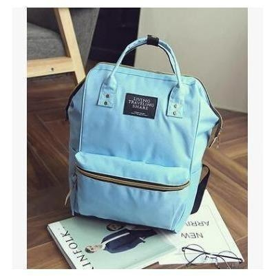 Fashion Women High Quality Denim Travel Backpack-Backpack-Sour Grapes Online-Sky Blue-26 x 40 x 17 cm-