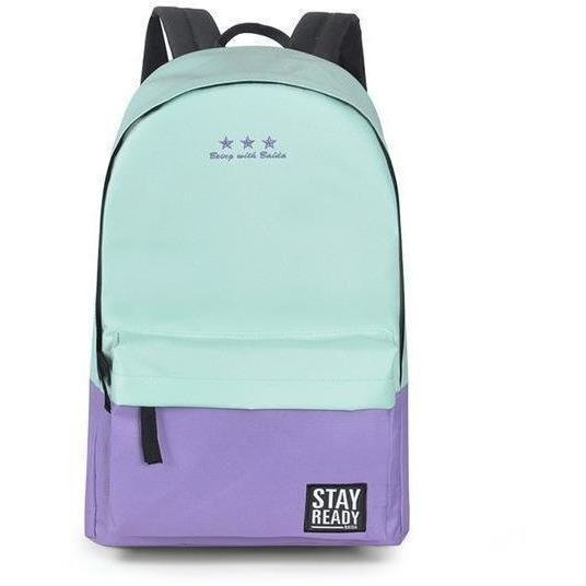 Fashion Women Leisure Korean Style Laptop Backpack-Backpack-Sour Grapes Online-cyan purple-