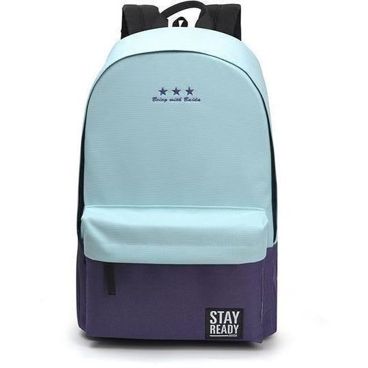 Fashion Women Leisure Korean Style Laptop Backpack-Backpack-Sour Grapes Online-light blue-