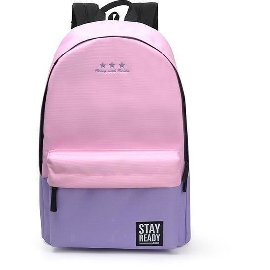 Fashion Women Leisure Korean Style Laptop Backpack-Backpack-Sour Grapes Online-light pink-