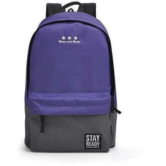 Fashion Women Leisure Korean Style Laptop Backpack-Backpack-Sour Grapes Online-purple grey-