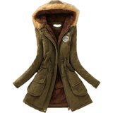 Faux Fur Collar Coat Long Down Parka Winter Army Green Jacket-Coat-Sour Grapes Online-Army Green-XXL-
