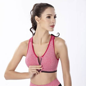 Fitness Yoga Wire-free Seamless Push Up Sports Bra - 5 colors-Bra-Sour Grapes Online-Red-L-