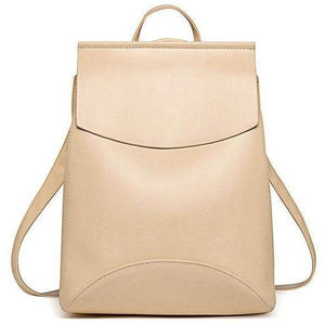 Genuine High Quality Designer Women Leather Backpacks-Backpack-Sour Grapes Online-Beige-