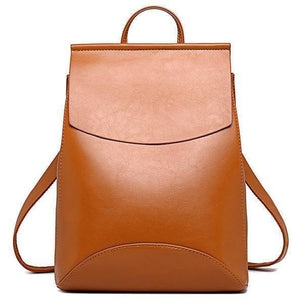 Genuine High Quality Designer Women Leather Backpacks-Backpack-Sour Grapes Online-Brown-