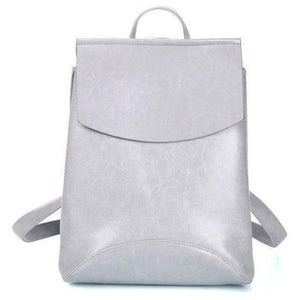 Genuine High Quality Designer Women Leather Backpacks-Backpack-Sour Grapes Online-Grey-