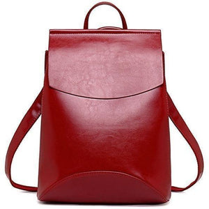 Genuine High Quality Designer Women Leather Backpacks-Backpack-Sour Grapes Online-Red-